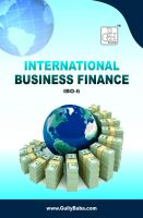 IBO6 International Business Finance (IGNOU Help book for IBO-6 in English Medium): Book by Sudhir Kochhar