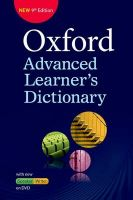 Oxford Advanced Learner's Dictionary (With DVD) (English) 9th Edition (Paperback): Book by A. S. Hornby