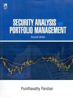 Security Analysis and Portfolio Managemnet 2/e PB: Book by Pandian P