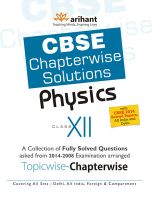 CBSE Chapterwise Solutions - Physics (Class 12) 3rd Edition: Book by  S. K. Singh