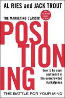 Positioning: The Battle for Your Mind: Book by Al Ries,Jack Trout,Jack Trout