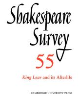 Shakespeare Survey: An Annual Survey of Shakespeare Studies and Production: v. 55: King Lear and Its Afterlife