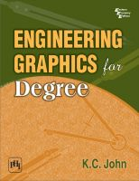 Engineering Graphics for Degree: Book by K. C. John