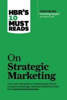 HBR's 10 Must Reads on Strategic Marketing: Book by Harvard Business Review