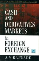 CASH AND DERIVATIVES MARKETS IN FOREX: Book by A. V. RAJWADE