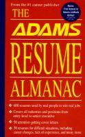 Adams Resume Almanac: Book by The Editors of Adams Media