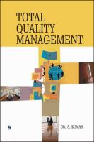 Total Quality Management: Book by Dr. S. Kumar