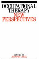 Occupational Therapy: New Perspectives