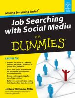 JOB SEARCHING WITH SOCIAL MEDIA FOR DUMMIES:Book by Author-JOSHUA WALDMAN
