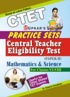 Practice Sets CTET (Paper-II) Mathematics & Science (For Classes VI-VIII): Book by Dr. Santosh Choudhary