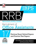 18.59.1-IBPS-RRB Assts.(CWE) Practice Paper (E): Book by Unique Research Academy