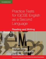 Practice Tests for IGCSE English as a Second Language: Reading and Writing Book 1: Bk. 1: Book by Marian Barry , Barbara Campbell , Sue Daish