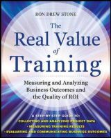 The Real Value Of Training: Book by Ron Stone
