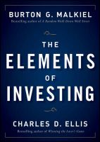 The Elements of Investing: Book by Burton G. Malkiel , Charles D. Ellis