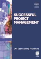 Successful Project Management CMIOLP: Diploma Level 4: Book by Kate Williams