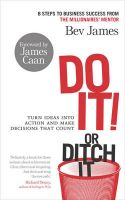 Do It! or Ditch it: Book by Bev James