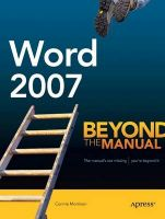 Word 2007: Beyond the Manual: Book by Connie Morrison