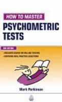 How to Master Psychometric Tests: Book by Mark Parkinson