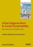 Urban Regeneration and Social Sustainability: Best Practice from European Cities: Book by Andrea Colantonio
