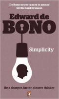 Simplicity: Book by Edward De Bono