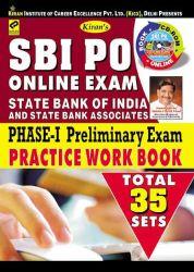 SBI PO ONLINE EXAM PHASE - I PRELIMINARY EXAM PRACTICE WORK BOOK--ENGLISH MEDIUM  (With CD)