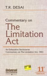 Commentary on The Limitation Act: Book by T R Desai