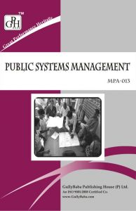 MPA013 Public Systems Management (IGNOU Help book for MPA-013 in English Medium): Book by GPH Panel of Experts