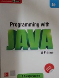 Programming with JAVA (English) 5th Edition (Paperback): Book by E Balagurusamy