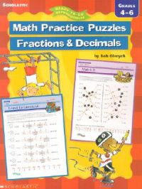 Math Practice Puzzles: Fractions and Decimals: Book by Bob Olenych