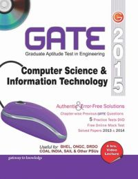 GATE 2015 - Computer Science & Information Technology (With DVD) (English) 12th Edition (Paperback): Book by GKP
