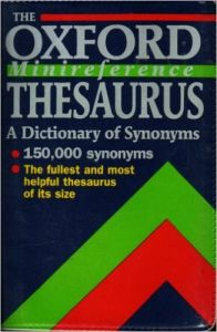 THE OXFORD MINIREFECENCE THESAURUS: Book by EDITED