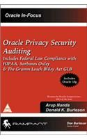 Oracle Privacy Security Auditing: Includes federal Law Compliance with HIPAA, Sarbanes-Oxley and the Gramm-Leach-Bliley Act GLB (English) 1st Edition: Book by J. Majumder Elstan A. Fernandez
