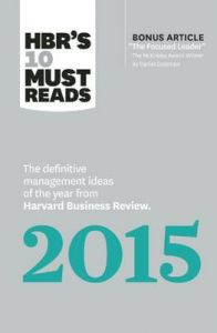HBR's 10 Must Reads 2015: Book by Harvard Business Review