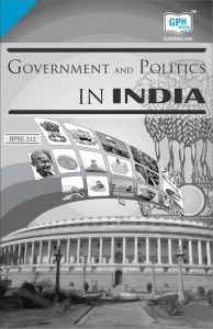 BPSE212 Government And Politics In India (IGNOU Help book for BPSE-212 in English Medium): Book by GPH Panel of Experts