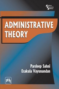 ADMINISTRATIVE THEORY: Book by Vayunandan Etakula