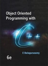 Object Oriented Programming with C++ (English) 6th Edition (Paperback): Book by E. Balagurusamy