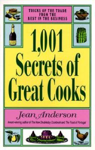 1001 Secrets of Great Cooks: Book by Jean Anderson