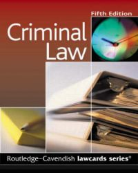 Criminal Lawcards: Book by Cavendish