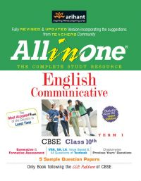All in One ENGLISH COMMUNICATIVE CBSE Class 10th Term-I | Book by