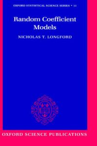 Random Coefficient Models: Book by Nicholas T. Longford