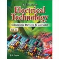 A Course In Electrical Technology (EDC) (Volume - III) (English) 3rd Edition (Paperback): Book by J. B. Gupta