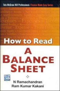 HOW TO READ A BALANCE SHEET: Book by N. Ramachandran