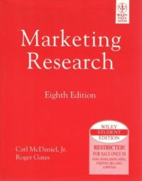 Marketing Research, 8/e PB  8th Edition : Book by Mcdaniel C