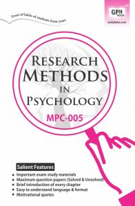 MPC005 Research Methods (IGNOU Help book for MPC-005 in English Medium): Book by GPH Panel of Experts