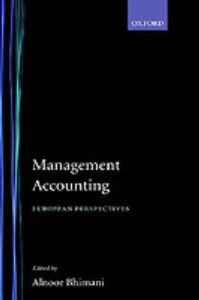 Management Accounting: European Perspectives: Book by A. Bhimani