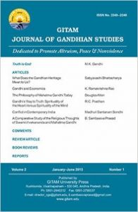 Gitam Journal of Gandhian Studies (Volume - 2, No. 1) (English): Book by B. Sambasiva Prasad