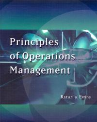 Principles of Operations Management: Book by Amitabh Raturi