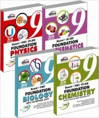 New Pattern Class 9 Boards + PMT/IIT Foundation (Science + Maths) - Set of 4 books: Book by Disha Experts