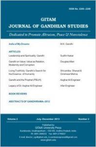 Gitam Journal of Gandhian Studies (Volume - 2, No. 2) (English): Book by B. Sambasiva Prasad