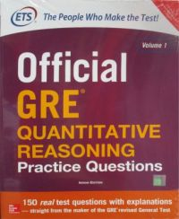 Official GRE Quantitative Reasoning Practice Questions (Volume 1) (English) 1st Edition (Paperback): Book by Educational Testing Service